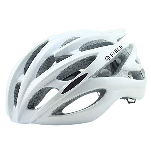 Lichtgewicht fietshelm Volwassen Fietsen Fietshelm Specialized met reflecterende streep en verwijdering Verstelbare Mannen Vrouwen Bescherming van de Veiligheid,White