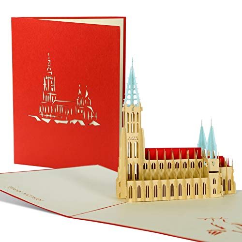 3D Pop Up Karte, Grußkarte Ulmer Münster, Reisegutschein, Glückwunschkarte, edel, hochwertig, besonders, Souvenir, A41