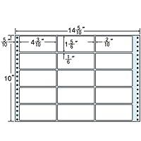 東洋印刷 タックフォームラベル 14 5/10インチ ×10インチ 15面付(1ケース500折) M14R