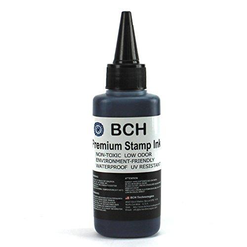 Black Stamp Ink Refill by BCH - Premium Grade - 2.5 oz