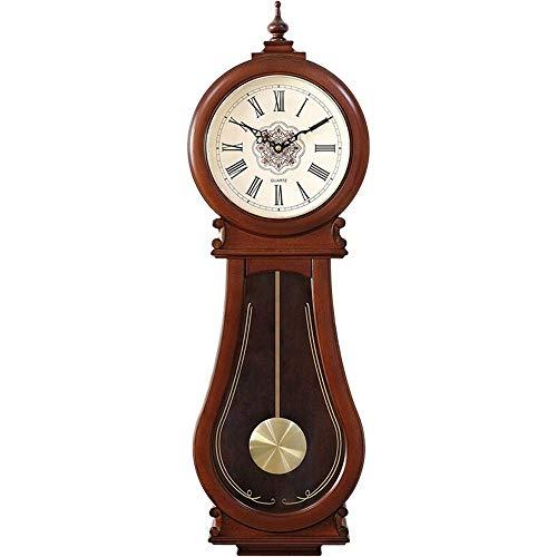 ZY Künstlerische Wanduhr Dekorative Wanduhr Creative Art-Quarz-Taktgeber Non Ticking Clock Hang Stille for Wohnzimmer Schlafzimmer Dekoration (Farbe: Holz, Größe: 26x86x8cm) LOLDF1