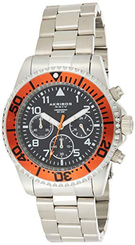 Akribos XXIV Men's Multifunction Watch -3 Subdials With Luminescent Hands On Stainless Steel Bracelet Watch - AK950