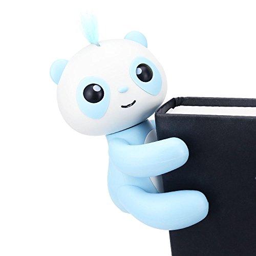 HAPPY PANDA - Finger Panda - Electronic Interactive Toy- Smart Pet Toys - Kids Christmas Gift-Not Finger Baby Monkey (Blue)