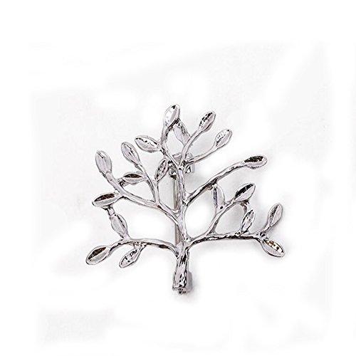 GuDeKe Geäst Brosche Shirt Corsage Brautkleid Brosche und Pin für Frauen (Silber)