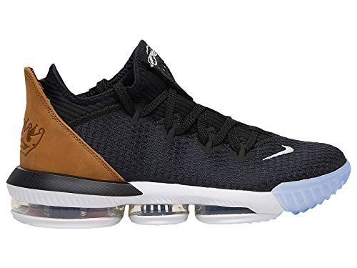 Nike Mens Lebron 16 Low Black/Gold/Wheat Synthetic Basketball Shoes 10.5 M US