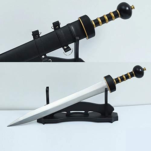 Zen Blades Club 31' Roman Gladius Sword Maximus Gladiator Blade 1060 High Carbon Steel Fight Ready Wooden Scabbard Supply