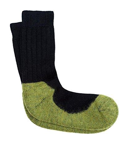 Hirsch Natur, Sport Socken mit Schaft, 98prozent Wolle (kbT), 2prozent Elasthan (38/39, Black/Hydro)