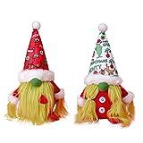 WSZMD 2 Piezas De Peluche Decoración Navideña Verde Muñeca Navidad Ornamentos Navideños Verde Peluquero Sin Rostro Muñeca Sin Rostro Colgante Decoracion De Decoración,2 Pieces