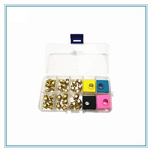 L-Yune,bolt Düsen 1pc MK8 0,2/0,3/0,4/0,5/0,8 Mit Mk9 Silikon Socke for 3D-Printer Hotend Faserkopf Messing Düsen kompatibel for Prusa I3