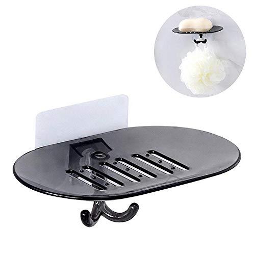 HEHELEBANG Caja de jabón para ducha de baño, plato de almacenamiento, bandeja de soporte para jabón, accesorios para bandeja de baño, chocolate