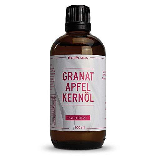 Granatapfelkernöl || 100 ml || 100% naturrein || kaltgepresst || Lebensmittelqualität || zur inneren und äußerlichen Anwendung geeignet || SinoPlaSan