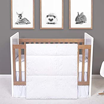 Trend lab Simply White 3 Piece Crib Bedding Set