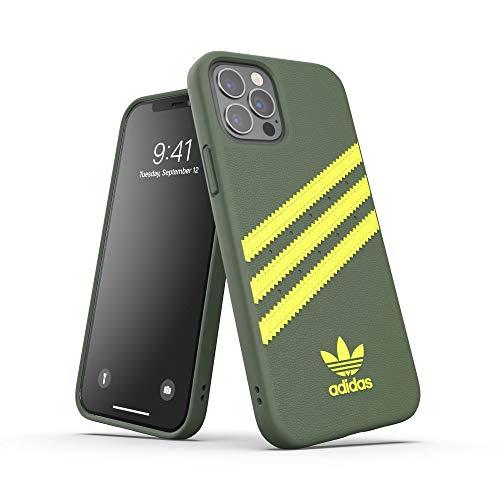 adidas Funda diseñada para iPhone 12 / iPhone 12 Pro 6.1, Fundas a Prueba de caídas, Bordes elevados, Funda Original Protectora Wild Pine/ácido