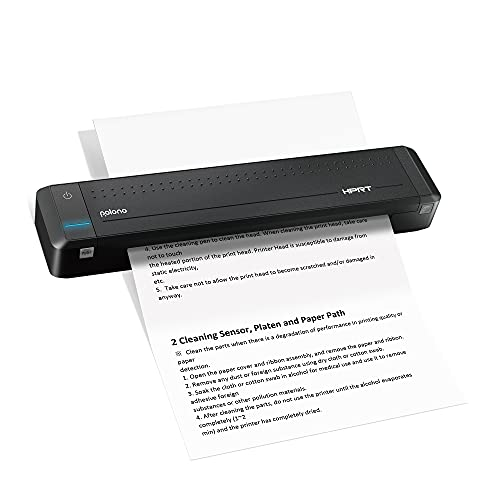Polono Wireless A4 Paper Printer,Portable Bluetooth Printer, Mini Printer Support Ordinary A4 Paper,Direct Thermal Transfer Printer with Auto Paper Feed, Available for Android and iOS Phones
