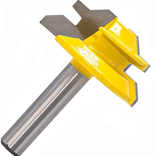 45 Grad Verleimfräser Gehrung Fräser 8mm Schaft Oberfräser Router Bit Holzbearbeitung Schneidwerkzeug für Graviermaschine Trimmmaschine