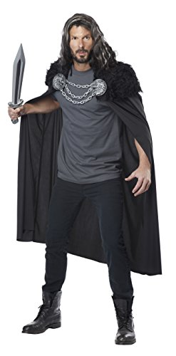 California Costumes Men's Wolf Clan Warrior Cape, Black, One Size