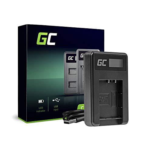 Green Cell® BC-TRX Ladegerät für Sony Action Cam NP-BX1 Akku und Cyber Shot DSC-HX50V HX300 HX400 RX100II RX100MII RX100V RX100V RX100V VII WX300 HDR-AS10 AS15 (2.5W 4.8V 0.6A Schwarz)