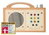 Lecteur MP3 pour Enfants : hörbert - en Bois. Haut-Parleur intégré, limiteur de...