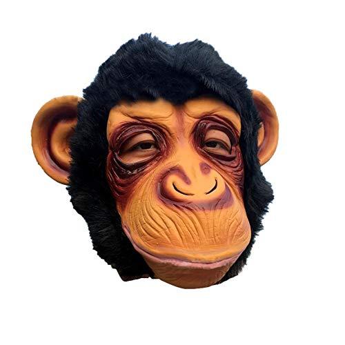 Máscara de Halloween Máscara de orangután Máscara de mono de látex Cosplay Máscara de baile Diversión Disparo de video Accesorios especiales Escenario para el desfile del festival Hierba Danza