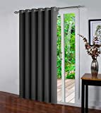 Oxford Homeware Door Curtain Eyelet Blackout Thermal Insulated One Panel Living Room Kitchen