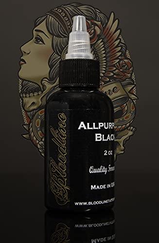 Bloodline Tattoo Ink All Purpose Black - 1 oz (30 ml)