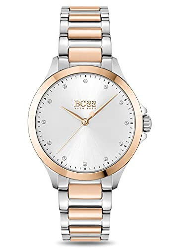 Hugo Boss Reloj Analógico para Mujer de Cuarzo con Correa en Acero Inoxidable 1502577
