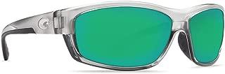 Costa Del Mar Saltbreak 580G Polarized Sunglasses in Silver & Green Mirror Lens