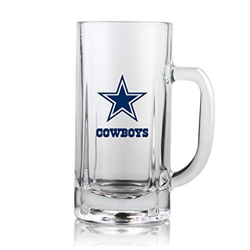 NFL Dallas Cowboys 20oz Heavy Duty Glass Kraft Mug