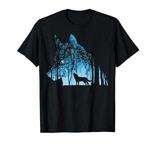 Bosque de lobos Camiseta