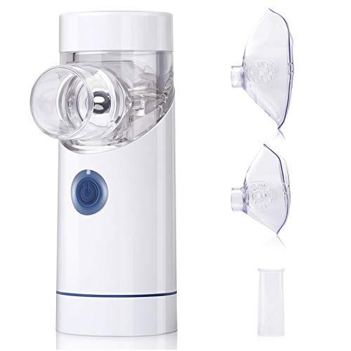 Inhalationsgerät tragbar Vernebler Set geräuscharmes Inhalator Vernebler mit Mundstück und Maske für Kinder und Erwachsene, wirksam bei Atemwegserkrankungen