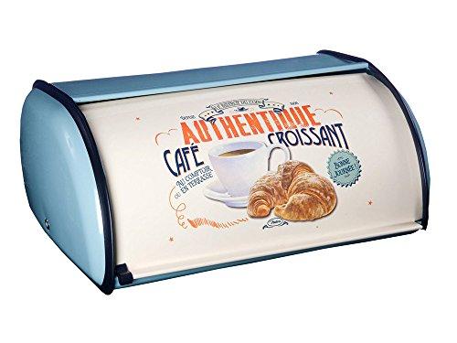 Natives Café Croissant Boîte à Pain rétro Café Croissants en métal 411290, Multicolore, 34,50 x 15 x 23 cm