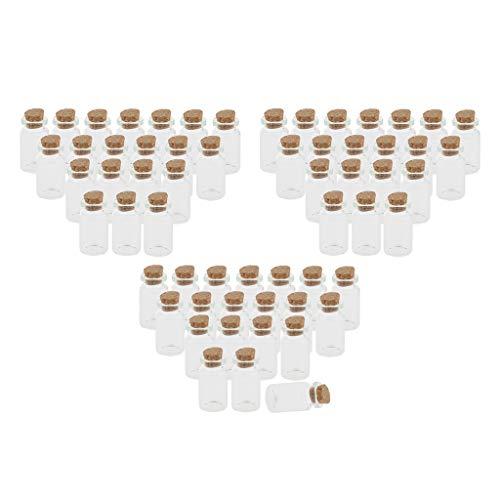Milageto 60 Piezas 10 Ml Tapones de Corcho Decoración de Bricolaje Botella de Vidrio Viales de Deseos