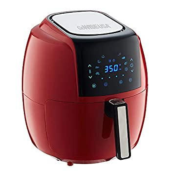 GoWISE USA 5.8-Quart Programmable 8-in-1 Air Fryer XL + Recipe Book  Chili Red
