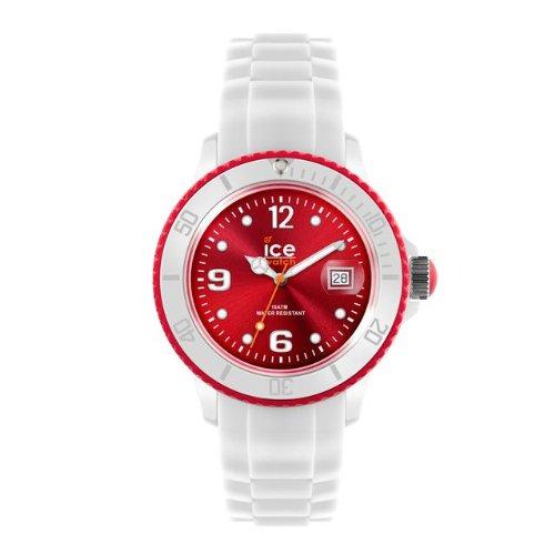 Ice-Watch SI.WD.U.S - Reloj analógico de Cuarzo Unisex, Correa de Silicona Color Blanco