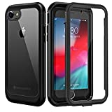 Seacosmo iPhone SE 2020 Case/iPhone 7 Case/iPhone 8 Case, Dual Layer Clear Case with Built-in Screen Protector, Full-Body Protective Bumper Case for iPhone 8/7/ SE 2020 -Clear/Black