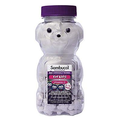 Sambucol Natural Black Elderberry Chewable Teddies | Vitamin C | 60 tablets