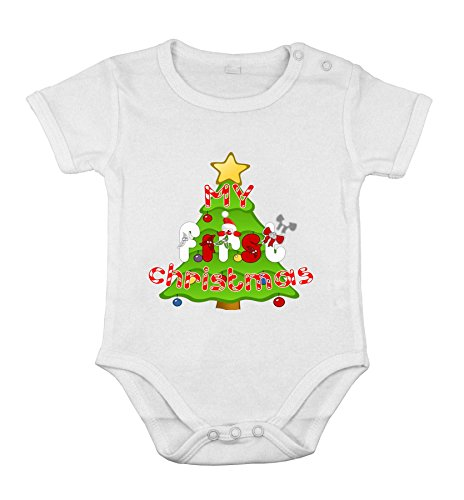 Baby Newborn Cotton Clothing Short sleeve Suit christmas tree holiday print 12M
