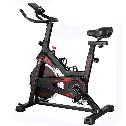 Bicicleta de Spinning con Ergómetro, Bicicleta Estática, Ajuste de Resistencia Continuo, Volante de Inercia 10 Kg, Bicicleta Interior para Uso Doméstico, Carga Máxima 150 Kg