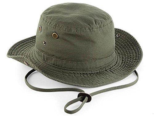 Tucuman Aventura - Chapeau Large Protection 50, Vert Kaki