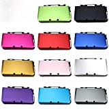 Jayamer Aluminum Metal Hard Box Protector Cover Plate Protective Case Housing Shell for Nintend 3DS XL LL Controller Replacement (Purple)