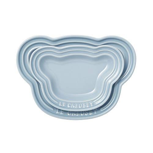 ル・クルーゼ(Le Creuset) 皿 ベビー・ベアー・プレート・セット コースタルブルー 耐熱 耐冷 電子レンジ オーブン 対応 【日本正規販売品】