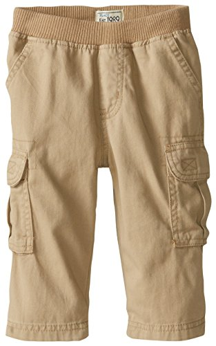 The Children's Place Baby Boys' Pull-On Cargo Pants, Flax, 12-18 Months