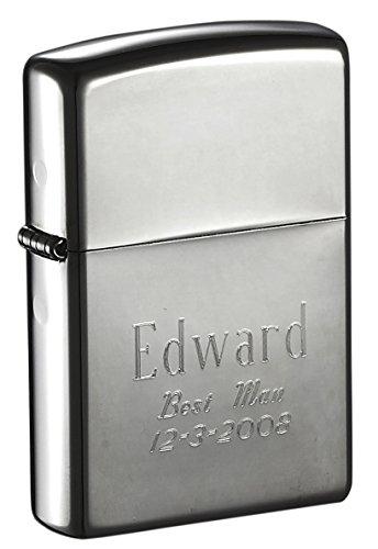 Personalized Black Ice Zippo Dark Gun Metal Lighter for Groomsmen Gift - Free Engraving