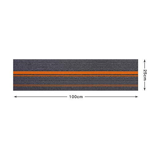 Matten Zelfklevende Commerciële Tapijt Vloertegels Keuken en Badkamer Vloeren | Pack van 4 |25 x 100 cm/10 x 39.4 Inch Elk