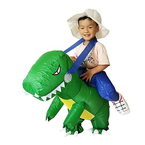 Laiiqi Disfraz de Dinosaurio Inflable para niños, Fiesta de Dinosaurios para niños, Disfraz de Dinosaurio Inflable para niños, Disfraz de Halloween para niños de 3 a 6 años, niñas