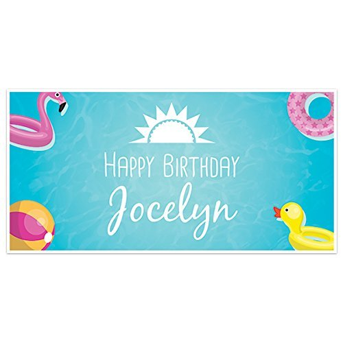 Ducky Pool Birthday Personalized Max At the price 83% OFF Party Banner