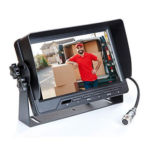 "VSG 7\"" HD Rückfahrmonitor/Heavy-Duty/extrem robust / 12-24 Volt/Kamerastromversorgung/Bildspiegelung / 2 Videoeingänge/e-Zulassung/Select-Serie"