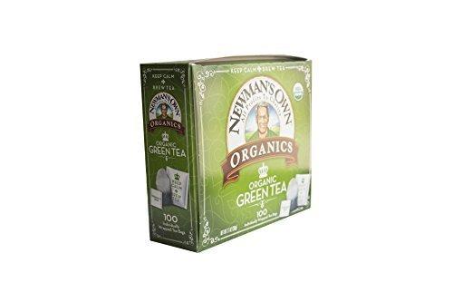 Newmans Own Organics Royal Tea, Organic Green Tea, 100-Count Individually Wrapped Tea Bags