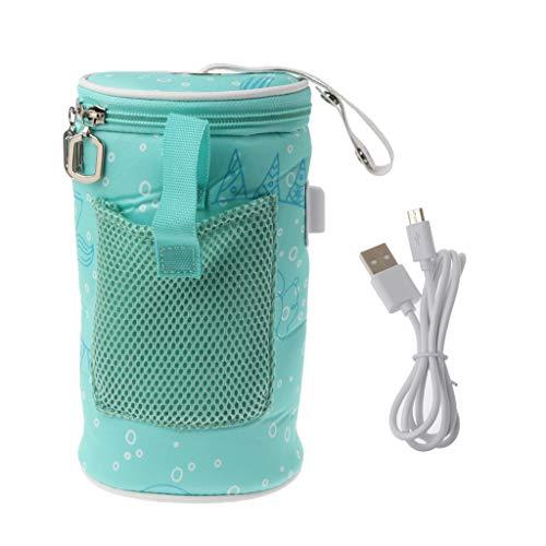 Mayoaoa - Scaldabiberon con Presa USB, Isolato, Tasca, Tazza da Viaggio, Portatile in Auto, Riscaldamento, per Bere e Bevande Calde