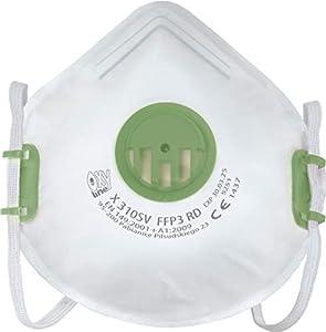 immagine di Respiratore Oxyline X 310 SV FFP3 R D Maschera di protezione riutilizzabile con valvola - 10 pezzi